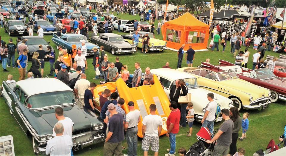 Classic American Stars & Stripes car show