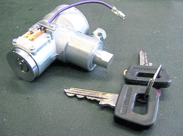 Not easy to rebuild; the Waso ignition lock!