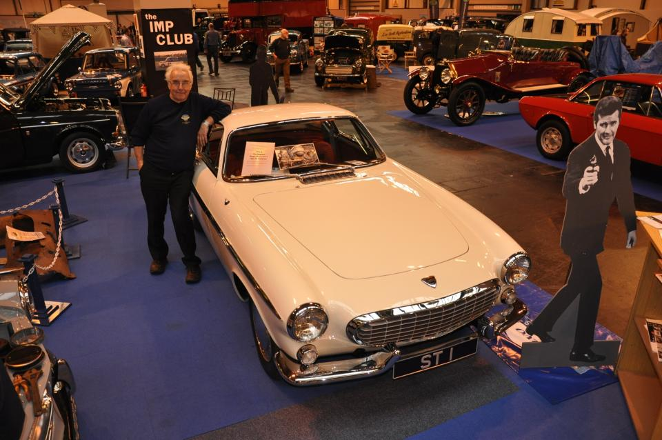 Kevin Price with the 'Saint' Volvo